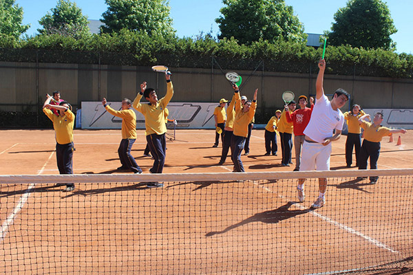 "Niños del Instituto Especial ""Cavime""  disfrutaron de un Taller de Mini Tenis"