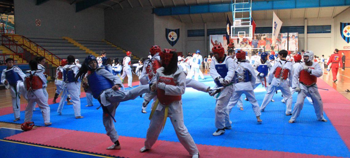 Cerca de 120 deportistas dieron vida a clase masiva de taekwondo