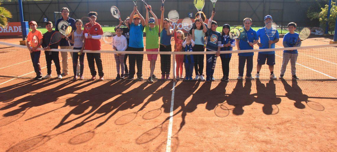 Pequeños tenistas dieron vida a Casa Abierta de Mini Tenis