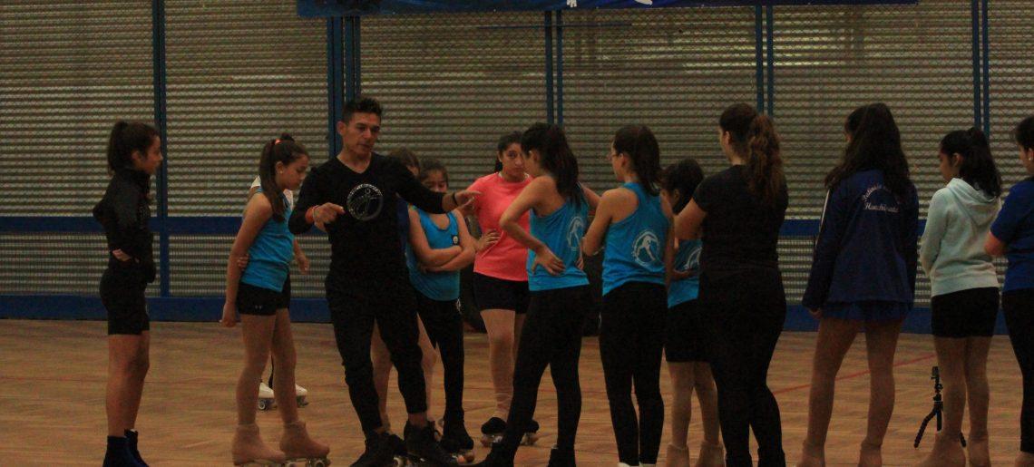 Campeón nacional de Patinaje Artístico dictó clases en el C.D.Huachipato