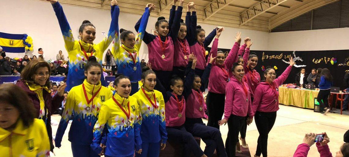 Conjunto senior logró tercer lugar en el primer control federado de Gimnasia Rítmica