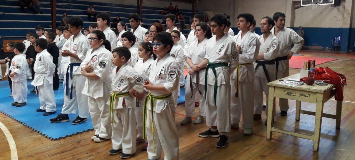 Karatecas acereros se lucieron en Yumbel