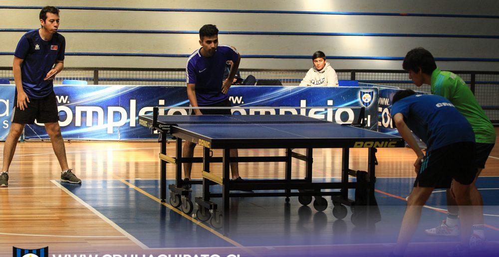 Sigue torneo por equipos de Tenis de Mesa en el C.D.Huachipato
