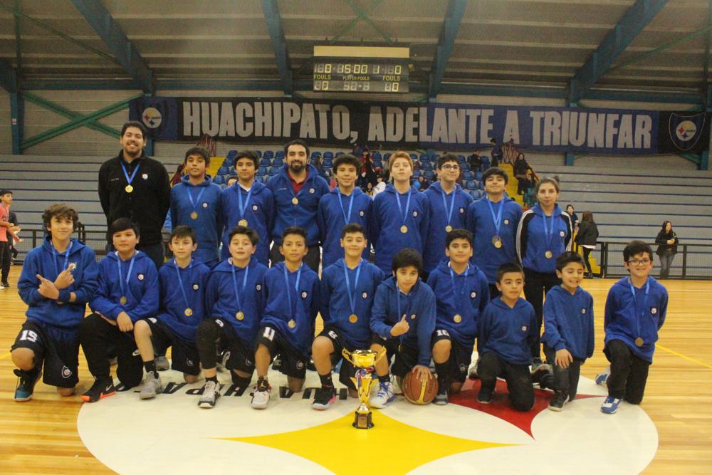 Categoría sub13 acerera se coronó campeón de la Liga Bío Bío de Basquetbol