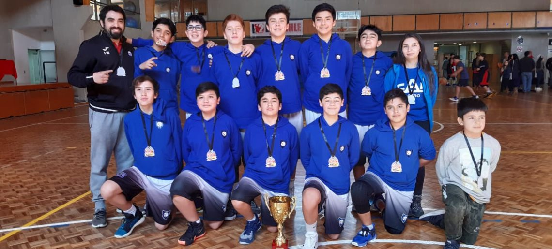 Sub13 acerera de basquetbol gritó campeón en C.D.Alemán