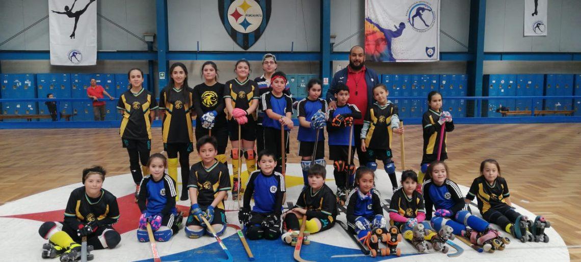 Hockey Menor de Huachipato y Halcones de Chillán vivieron amistosa jornada deportiva.