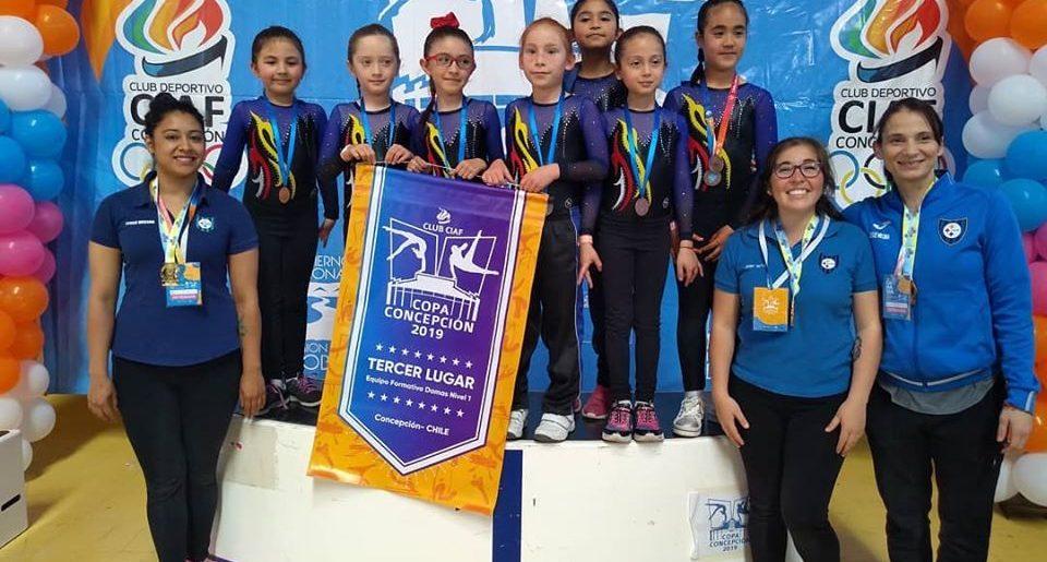 Tremenda actuación de la gimnasia artística en la Copa Concepción