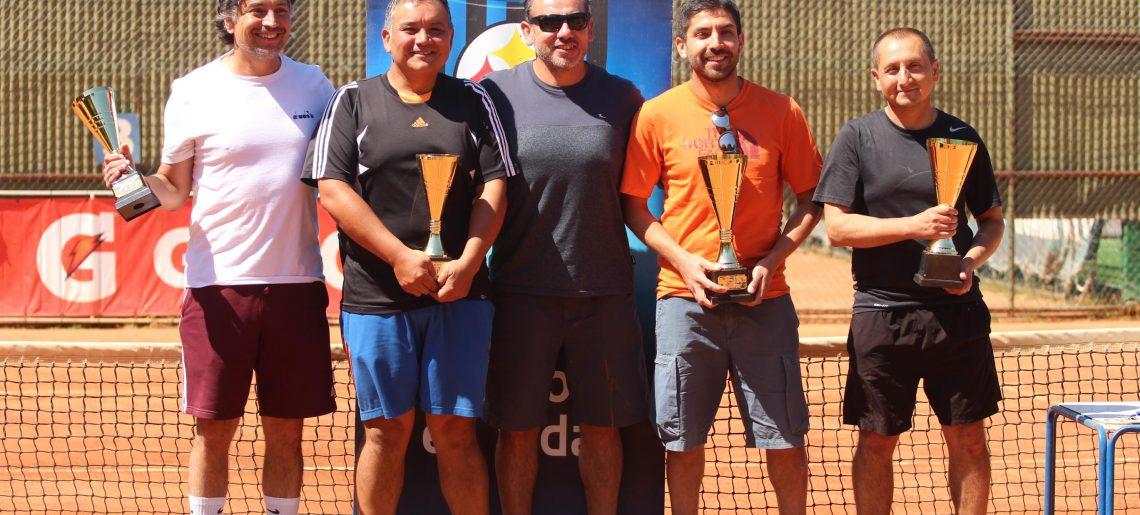Culminó torneo master senior de Tenis