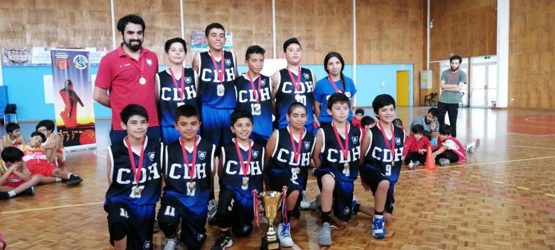 U12 de basquetbol acerero alzó el título en San Pedro