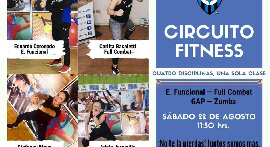 AHORA TODOS JUNTOS EN UNA CLASE: Circuito de Fitness GAP, ENTRENAMIENTO FUNCIONAL, ZUMBA Y FULL COMBAT