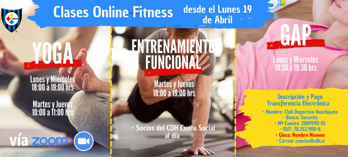 Clases Online de Fitness: Entrenamiento Funcional, GAP y Yoga