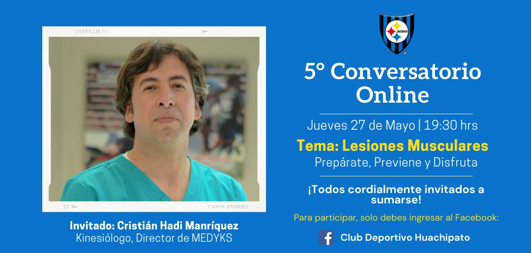 """5º conversatorio online: Lesiones musculares """"Prepárate, previene y disfruta"""""""