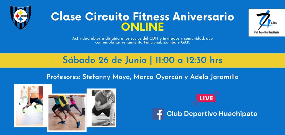 Invitación a participar de un Circuito Fitness